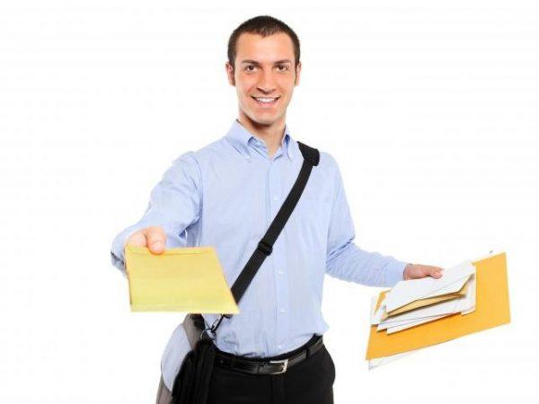 Vervoer van documenten door koeriersdienst